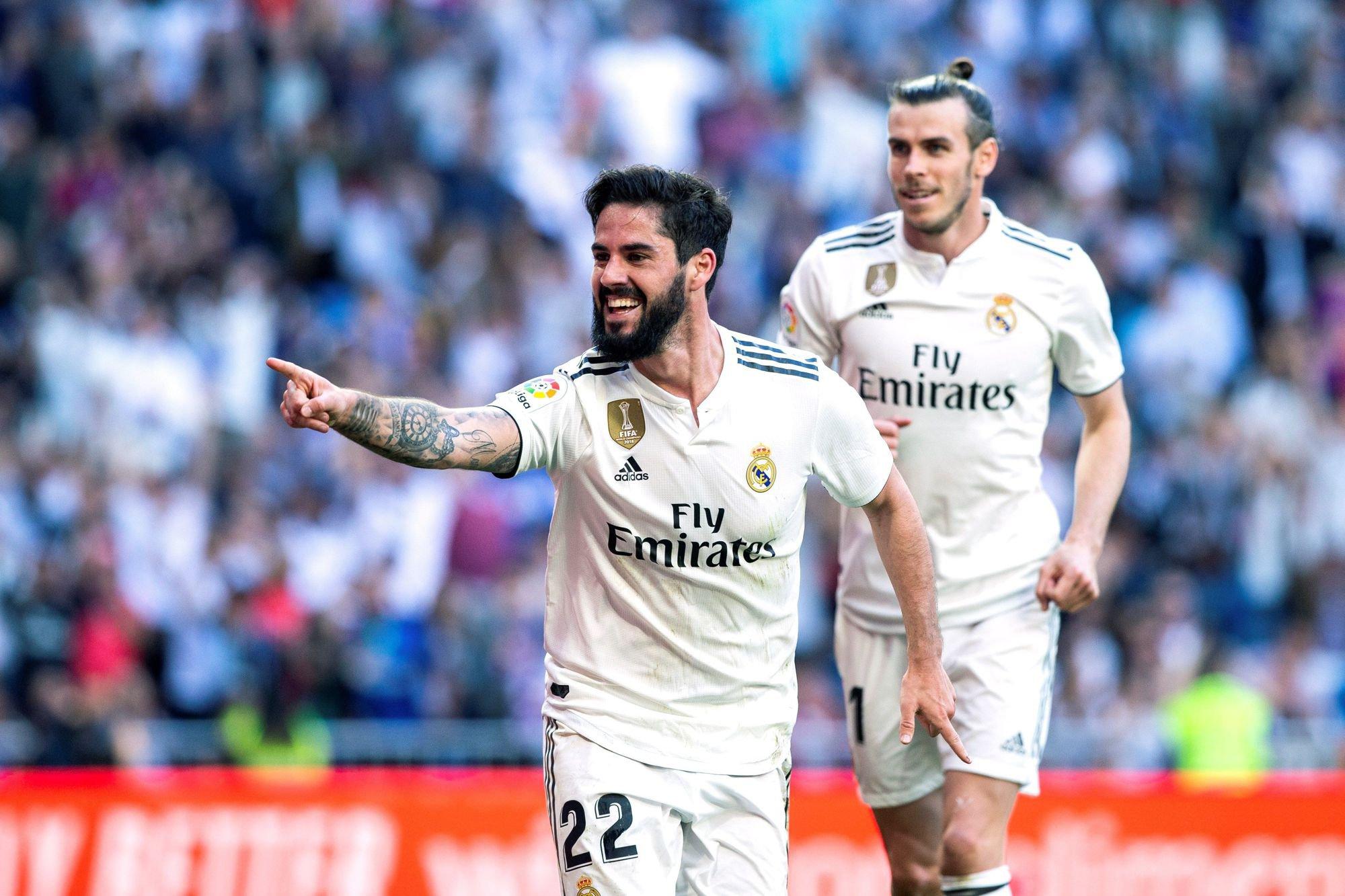 Isco celebra tras marcar el primer gol de su equipo ante el Celta de Vigo el pasado sábado.