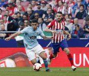 Koke persigue a Olaza en el Atlético-Celta disputado recientemente.